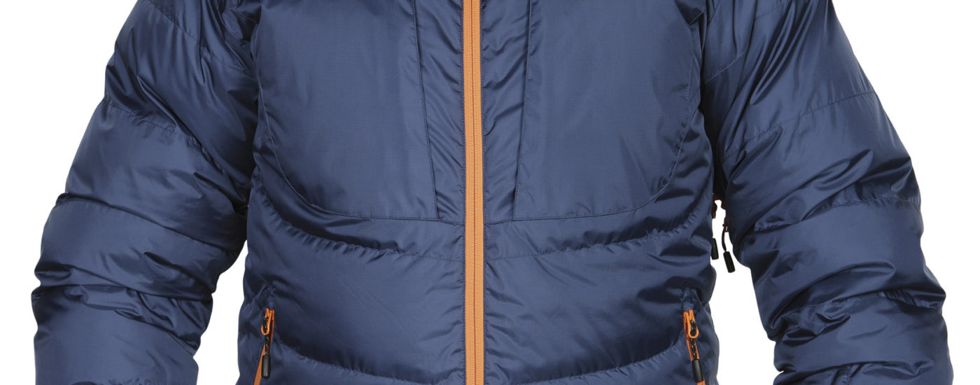 Sauda Down Jacket in DustyBlue-DullOrange