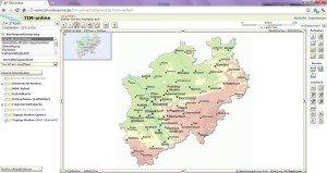 Online-Kartendienst TIM-Online von GEObasis.nrw