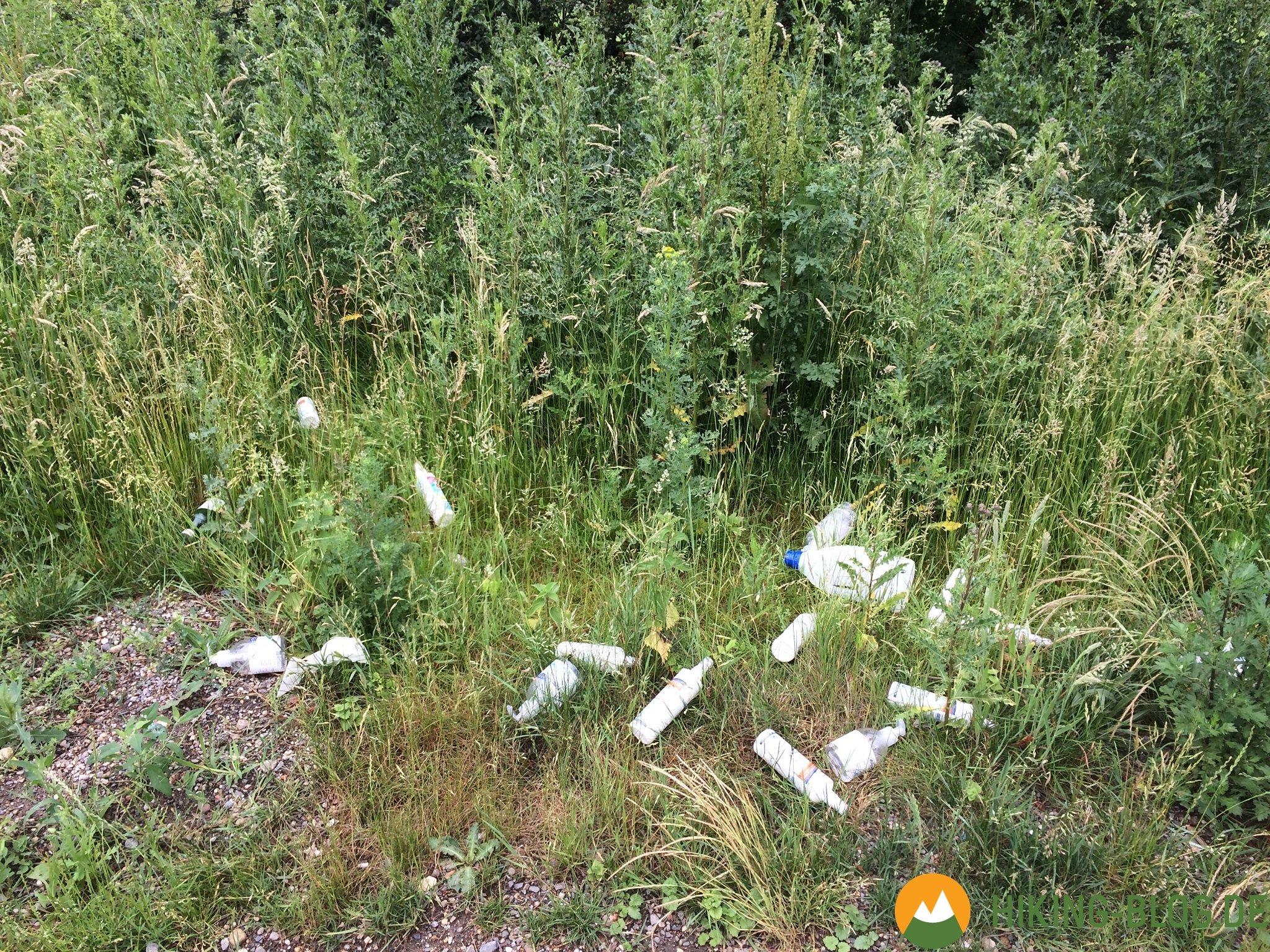 Illegal in der Natur entsorgter Müll