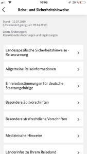Auswärtiges Amt App Sicher Reisen Hinweise
