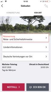 Auswärtiges Amt App Sicher Reisen Notfall