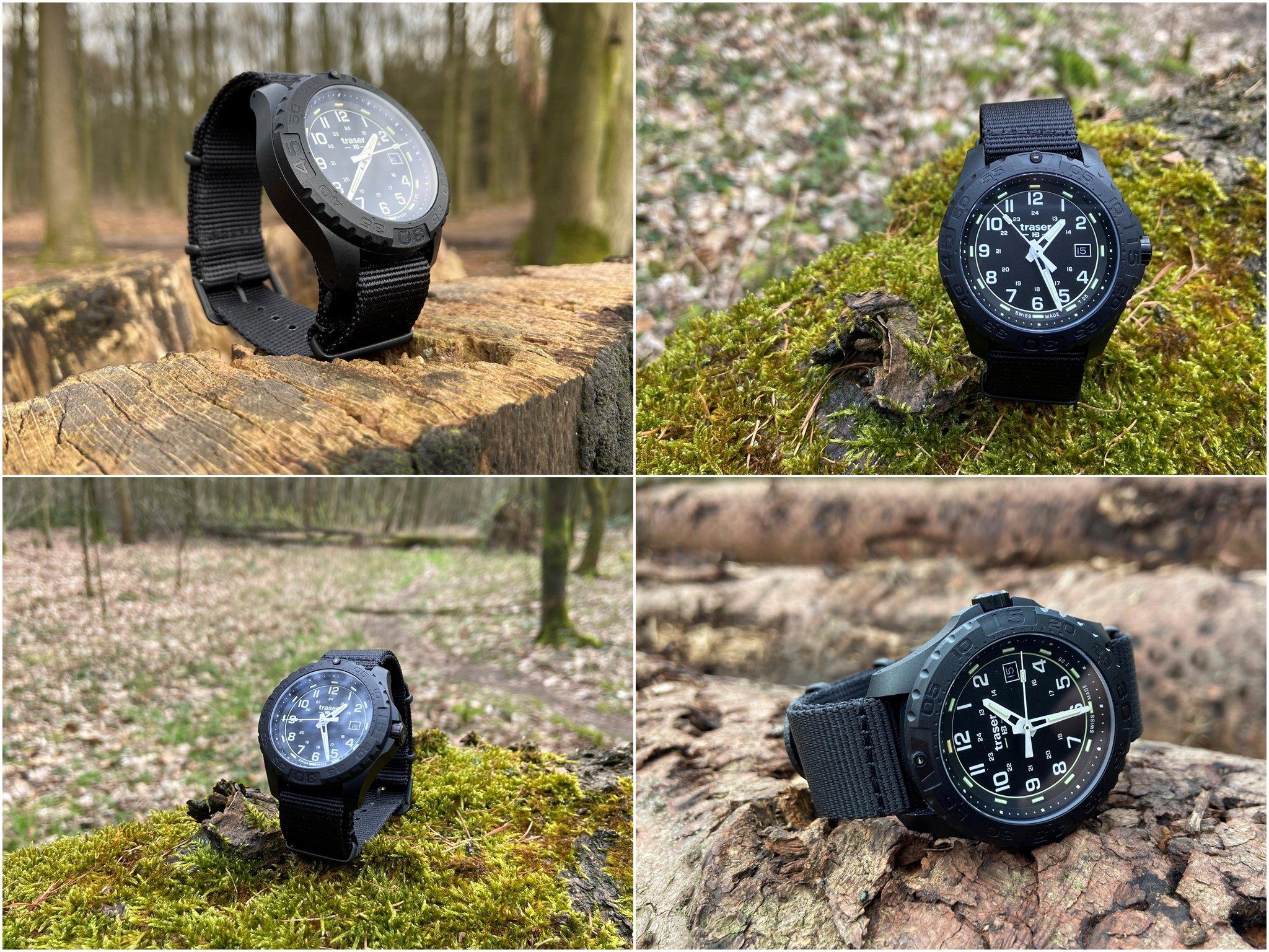 Traser P96 OdP Evolution Black Outdoor-Uhr in Wald und Flur