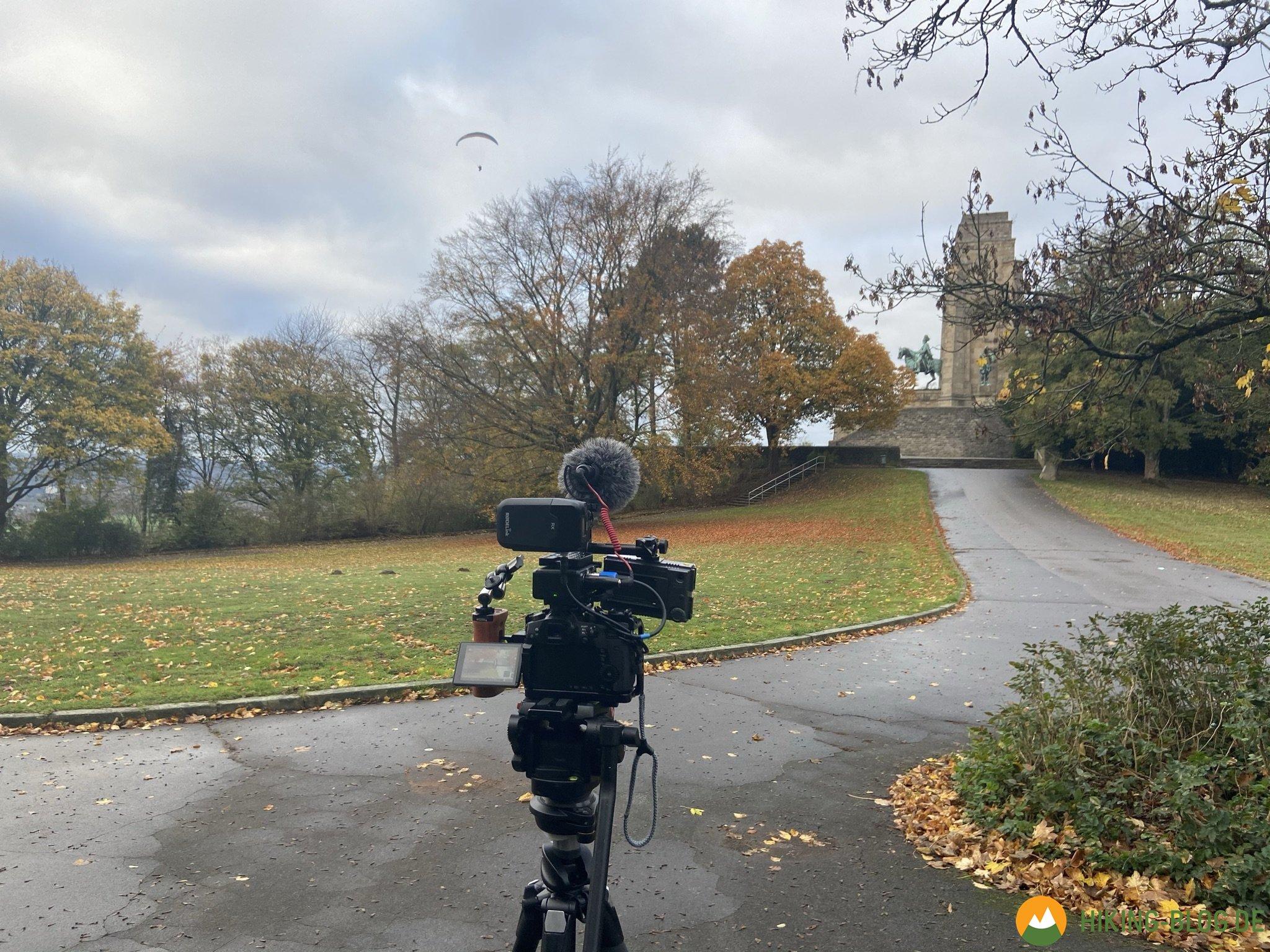 """Fernsehdreh an der Hohensyburg für die """"Lokalzeit von oben"""" width="""