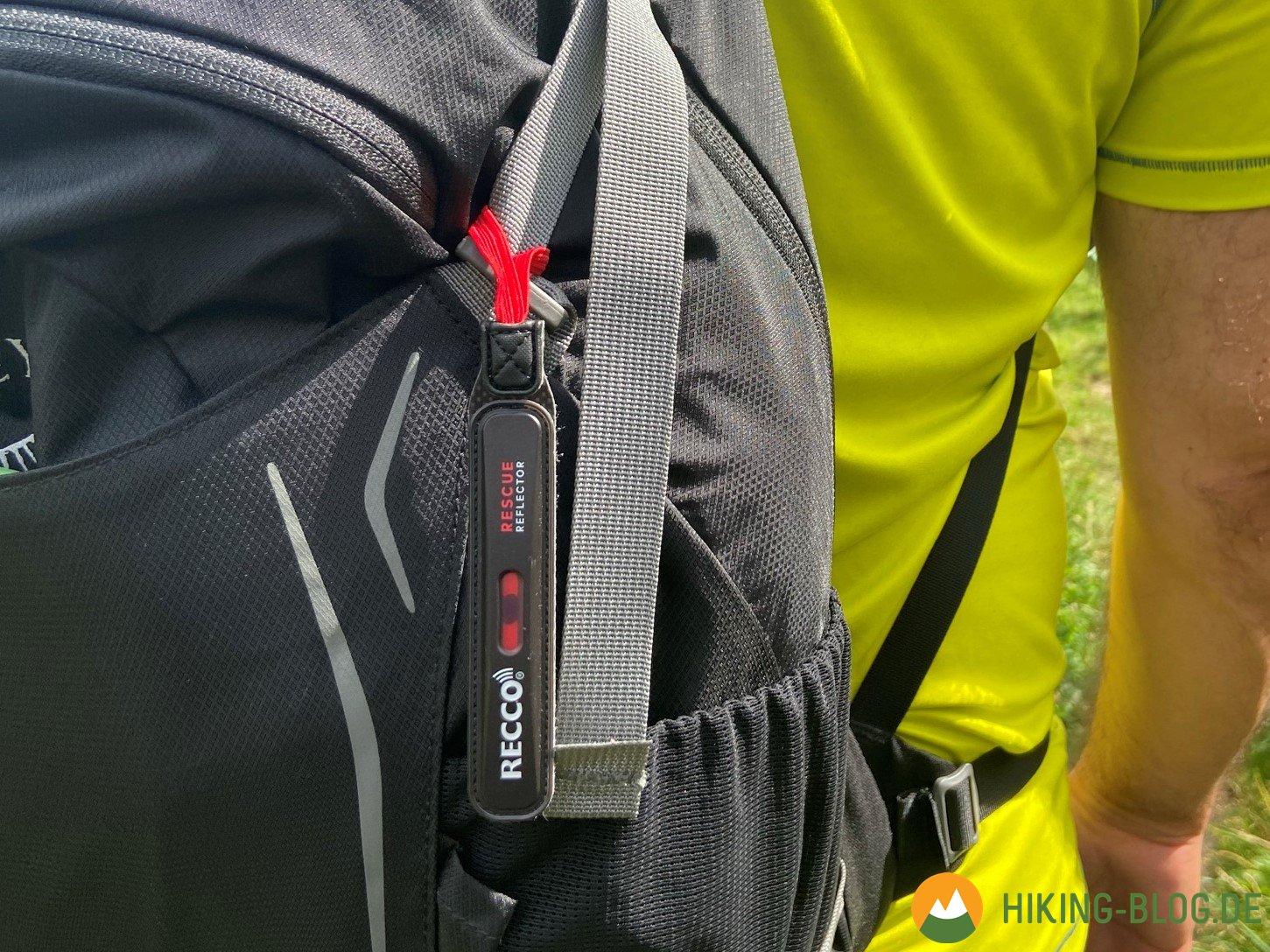 RECCO-Reflektor zum Nachrüsten am Rucksack